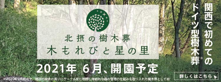 北摂の樹木葬木漏れ日と星の里2021年春、開園予定